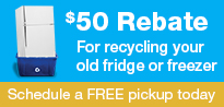 Refrigerator Freezer Recycling $50 Rebate